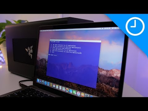 How to use an eGPU with your internal Mac display!