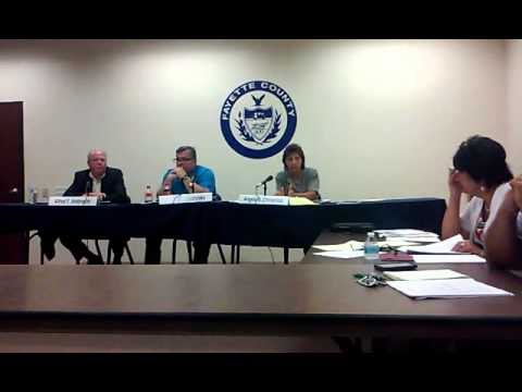 Fayette County Commissioners Meeting 8/18/15