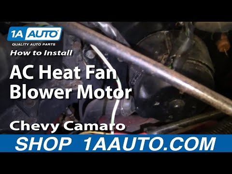 How To Install Replace AC Heat Fan Blower Motor 82-92 Chevy Camaro Pontiac Fireb