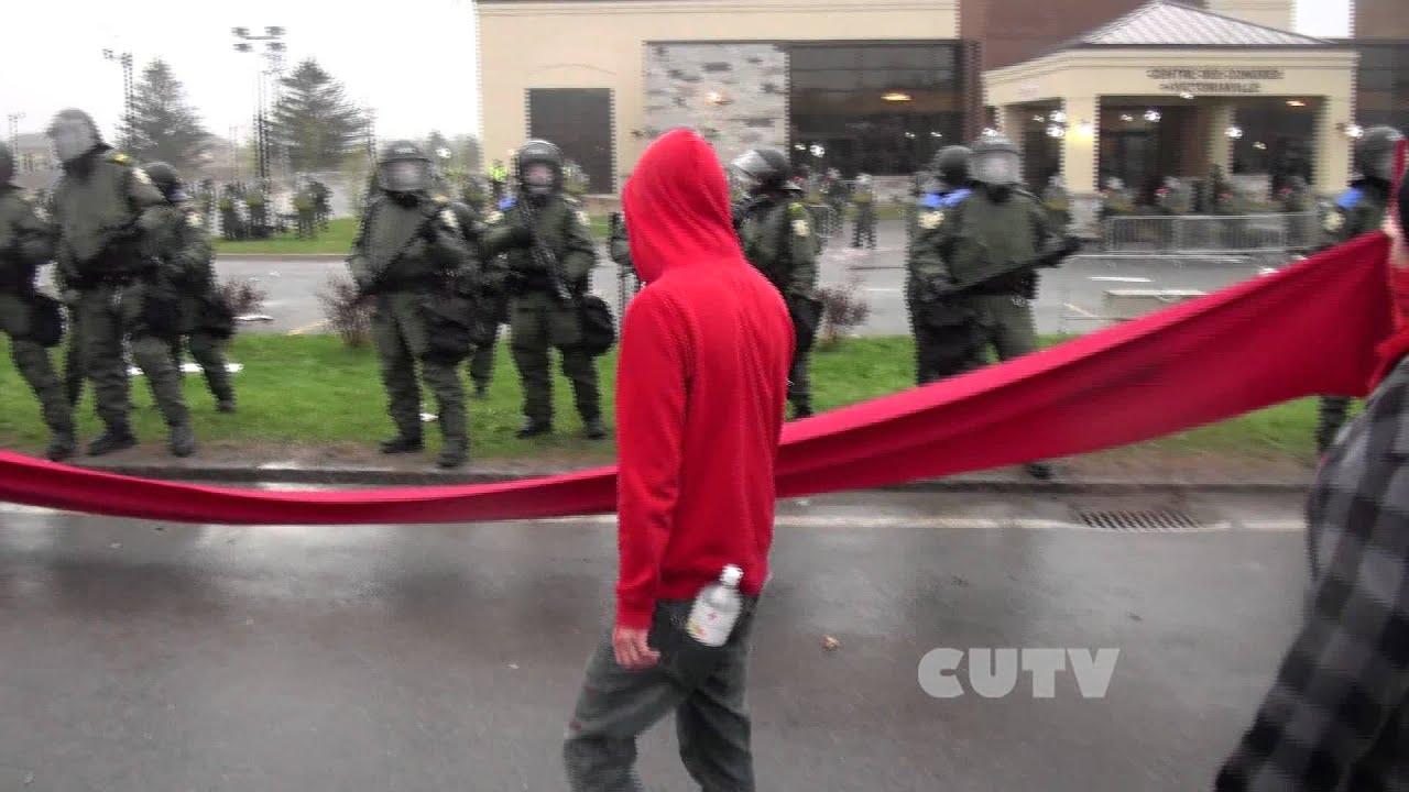 Victoriaville Avril 4 Police shooting of Alexandre Allard