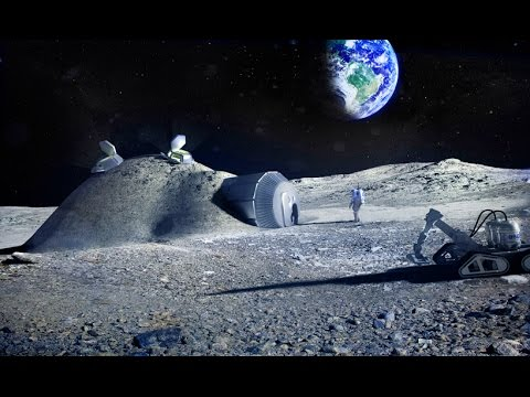 The European Space Agency's new boss today elaborated on plans to build a village on the moon