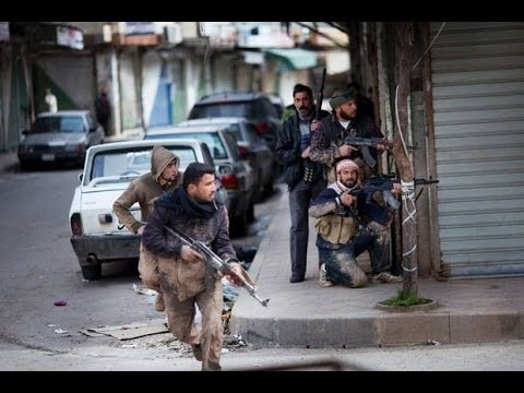 SYRIA WAR Real Combat of the Street Fighting, Unrest, Firefight, Gunfire. .
