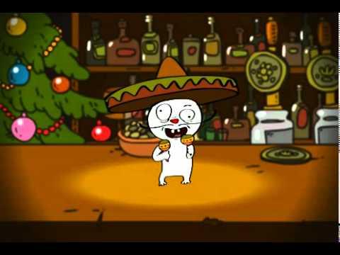 Весёлое поздравление с Новым Годом 2011 на 5-ти языках