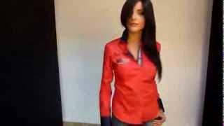 Chemise femme rouge unie Gazoil Collection modèle New York