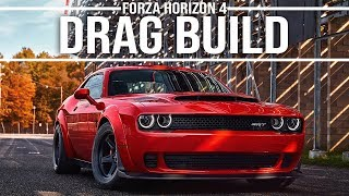 Forza Horizon 4 Dodge Challenger SRT Demon Drag Tune (RWD) 9.5 Second 1/4Mile!