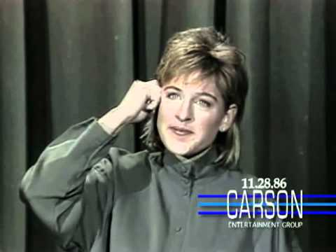 Ellen Degeneres Funny 1st Appearance Doing Stand Up Comedy on Johnny Carson s Tonight Show