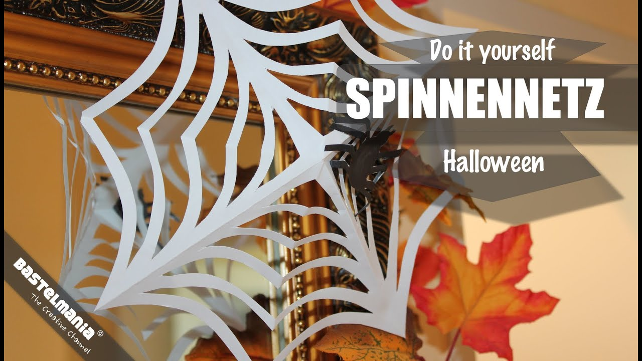 halloween spinnennetz papierspinnennetz spider 39 s web halloween deko youtube. Black Bedroom Furniture Sets. Home Design Ideas