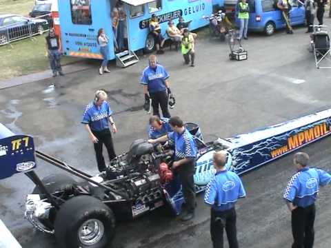 Top fuel dragster: Lex Joon in Drachten