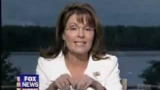 Thumb Sarah Palin escribe en su mano para no olvidar lo que tiene que decir
