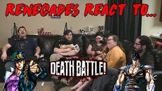 Renegades React to... Death Battle! - Jotaro vs. Kenshiro