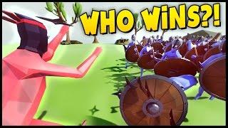 Ninja Master vs Viking Army, Massive Battles, Epic Slow Motion - Totally Accurate Battle Simulator