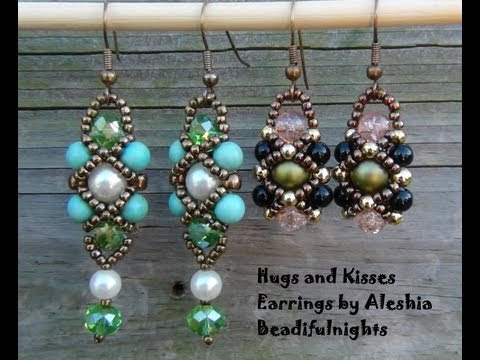 Hugs and Kisses Beaded Earrings Tutorial