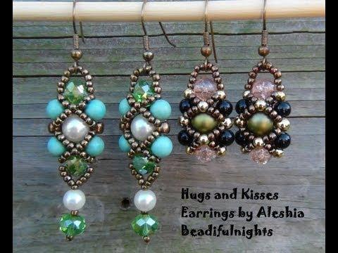 Hugs and Kisses Beaded Earrings Tutorial