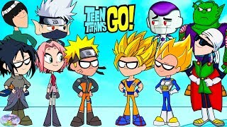 Teen Titans Go! Color Swap into Dragonball Z and Naruto Surprise Egg and Toy Collector SETC