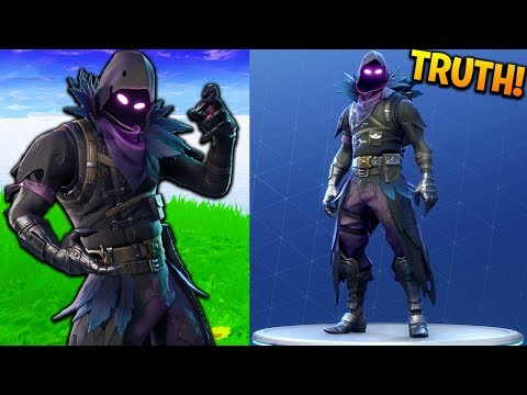 the TRUTH behind the RAVEN SKIN in FORTNITE! (Fortnite Mythbusters)