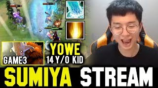 how SUMIYA toying Kunkka ft Yowe Hard Game | Sumiya Facecam Stream Moment #504