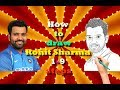 How to Draw Rohit Sharma || Step by Step Drawing tutorial