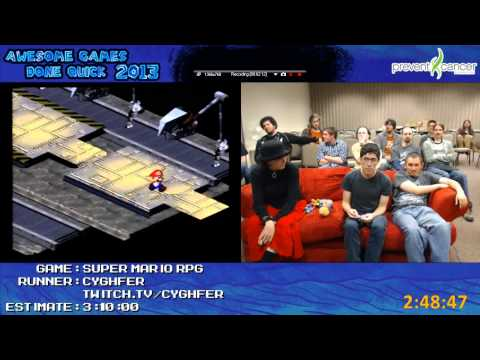 Awesome Games Done Quick - Swagger Poppins Falls Asleep During Super Mario RPG