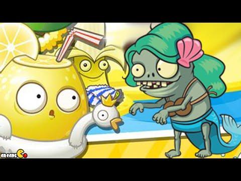 Plants Vs Zombies 2: Mermaid Imp Lemon Juice Big Wave Beach Day 6