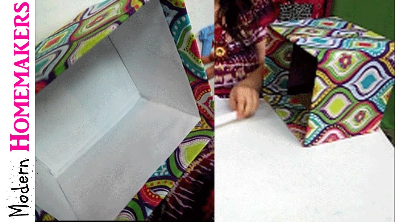 How To Cover A Box With Fabric YouTube