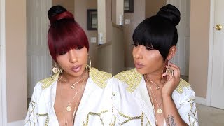 Trying Out This Faux Bang & Ponytail/Bun| ft. Samsbeauty
