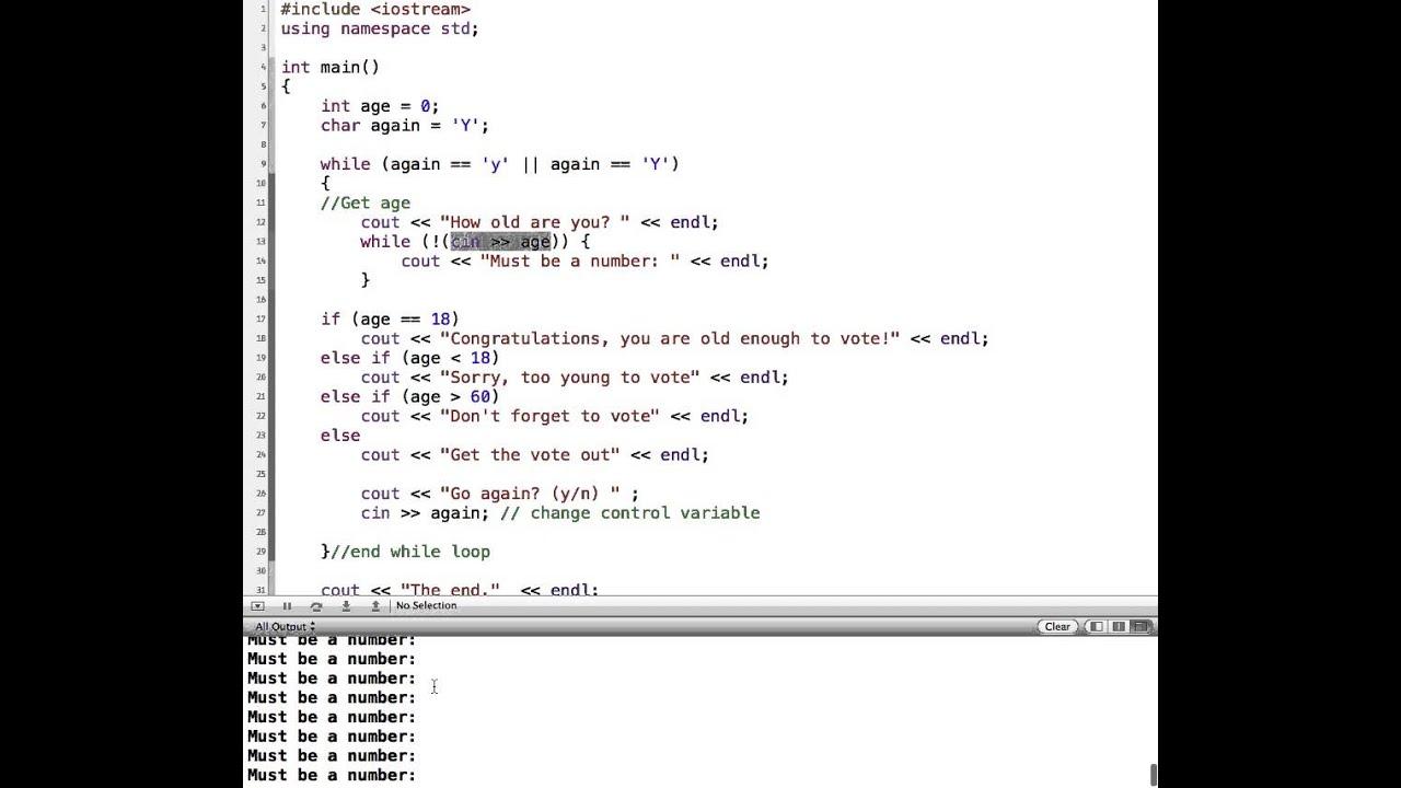 c validating user input