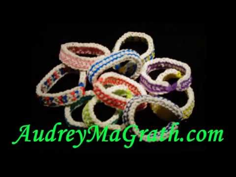 Rainbow Loom Glow in the Dark Dragon Scale Rubber Band Bracelets