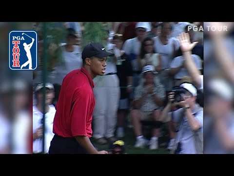 Tiger Woods' iconic par save from 1999 Memorial Tournament