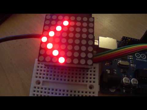 8X8 LED matrix with Arduino
