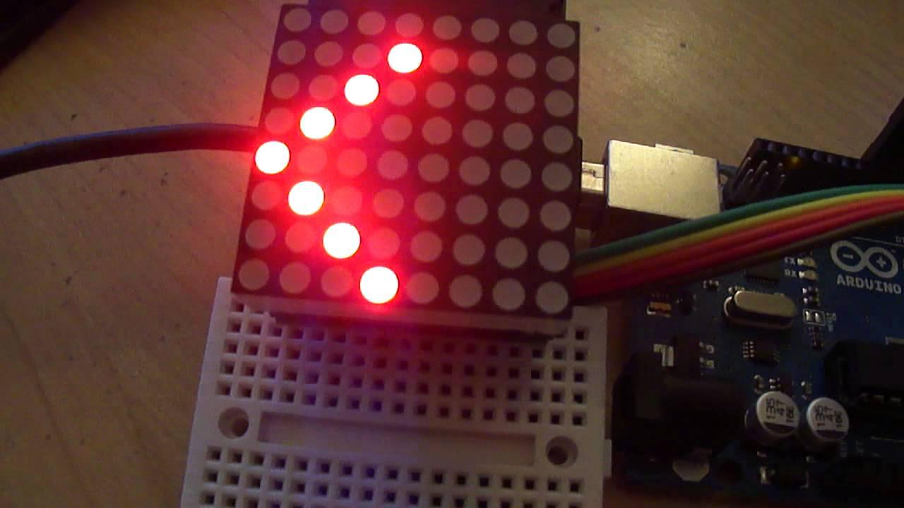 схема подключения светоизлучающих матриц