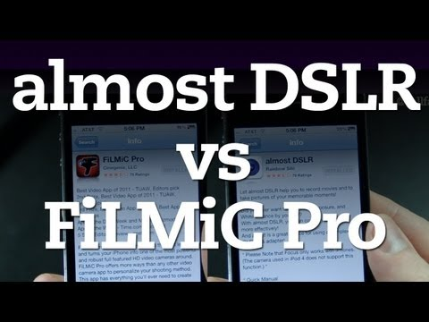 almost DSLR vs FiLMiC Pro