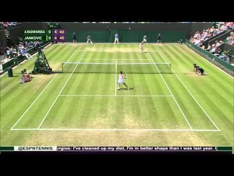 Agnieszka Radwanska - the best points at Wimbledon-2015