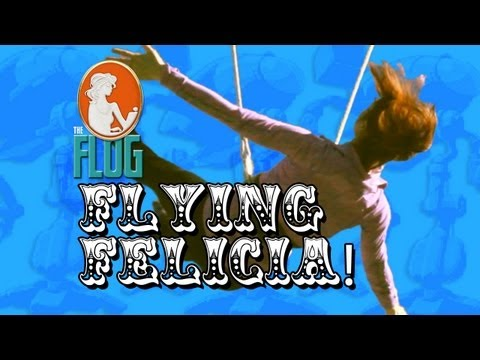 Felicia Day Flies the Trapeze