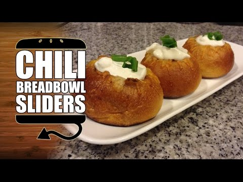 Awesome Chili Bread Bowl Sliders Recipe - HellthyJunkFood