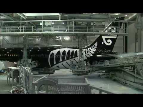 Unveiling of Air New Zealand's new 787-9 Aircraft