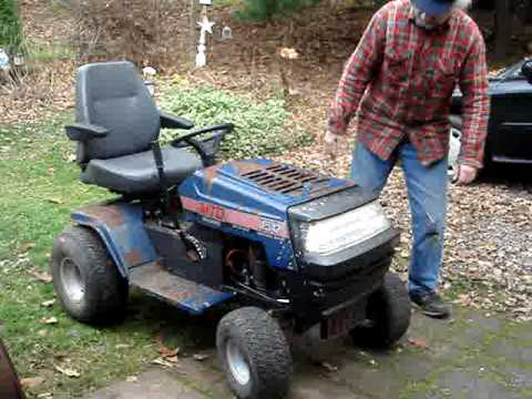 Mtd Yard Machine Lawn Tractor Startup With Hood Amp Lights