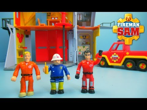Fireman Sam Deluxe Fire Station Playset   Toy Review