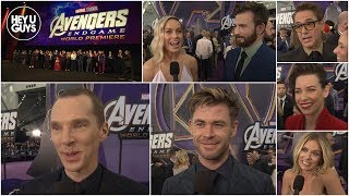 Avengers: Endgame World Premiere Cast Interviews