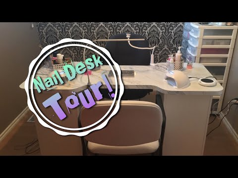 NAIL DESK TOUR! My New Custom Made Nail Desk!
