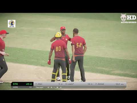 CPL 2018 Qualifier 2 - Trinbago Knight Riders V St. Kitts Nevis Patriots hits | DBC 17 Gameplay
