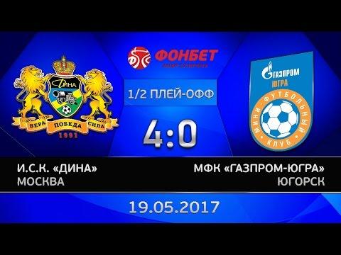 1/2 финала. Дина - Газпром-ЮГРА. 4:0. Вторая игра