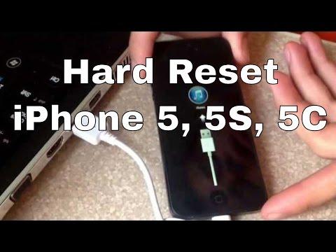 Factory hard reset iphone 5 5S 5C