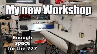 My new workshop! Continuing building my Boeing 777-9X ;)