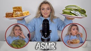 I TRIED ASMR... Eating Raw Honeycomb, Aloe Vera + Trigger Sounds!