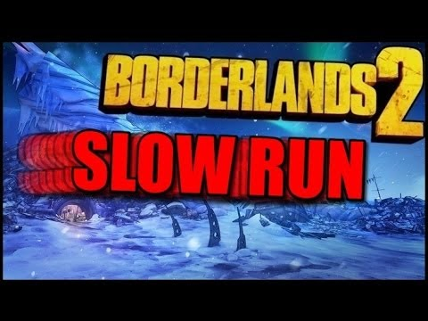 Borderlands 2 SLOW RUN! Hoplite+Bane Geary Easter Egg! Part 1