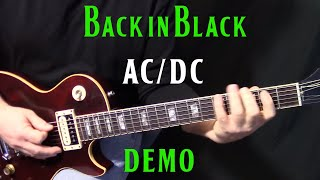 "how to play ""Back in Black"" on guitar by AC/DC - rhythm guitar lesson part 1"