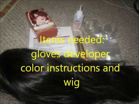 CAN YOU DYE A BLACK SYNTHETIC WIG RED?