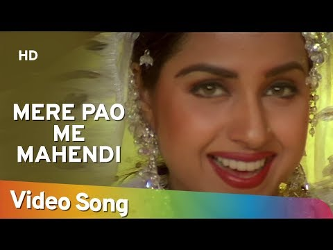 Mere Pao Me Mahendi Lagi Hai - Ayub Khan - Saadhika - Salma Pe Dil Aaga Ya - Hindi Song video