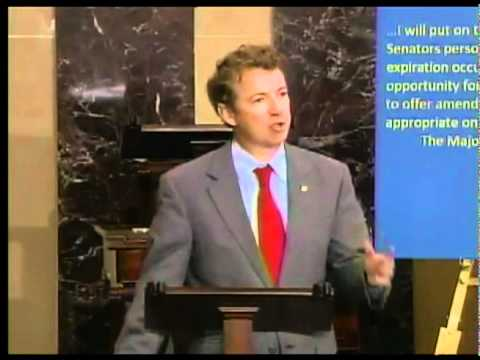 Senator Rand Paul trashes the Patriot Act