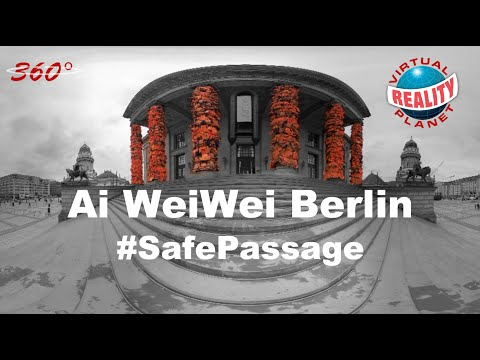 [360° video] Ai Weiwei covers Berlin's Konzerthaus in refugee life vests s/w